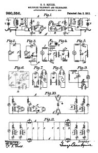 Squier,-Multiplex-Telephony-and-Telegraphy-patent
